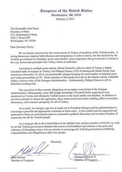 ABD kongre mektup