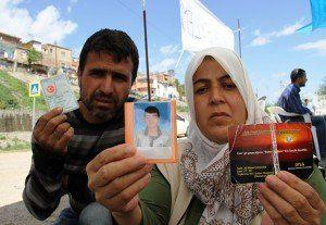 Diyarbakirli ailenin cocugu icin baslattigi eylem devam ediyor